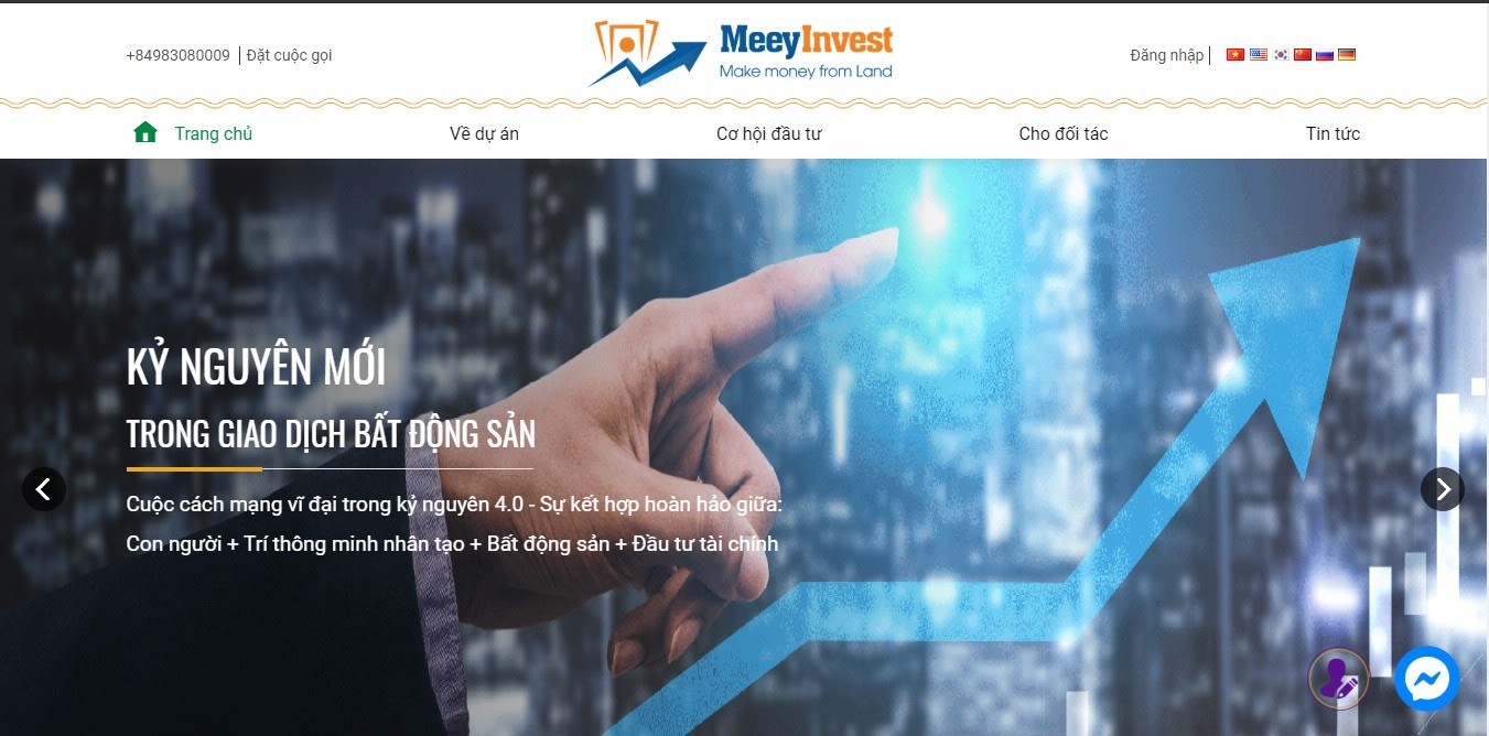 giao diện meeyinvest