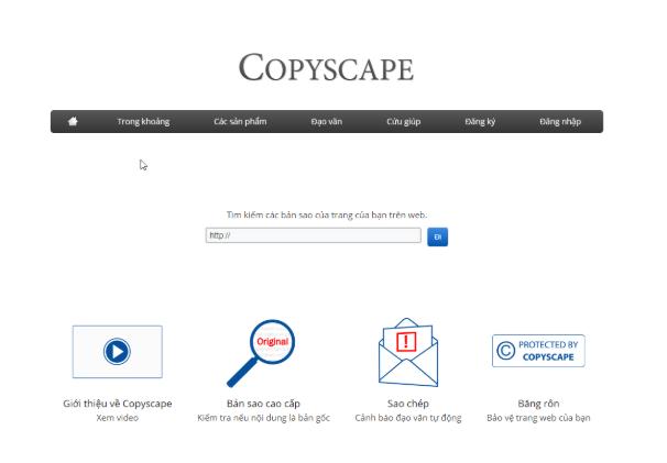 Copyscape – công cụ được yêu thích bởi những Writer và các SEOer chuyên nghiệp