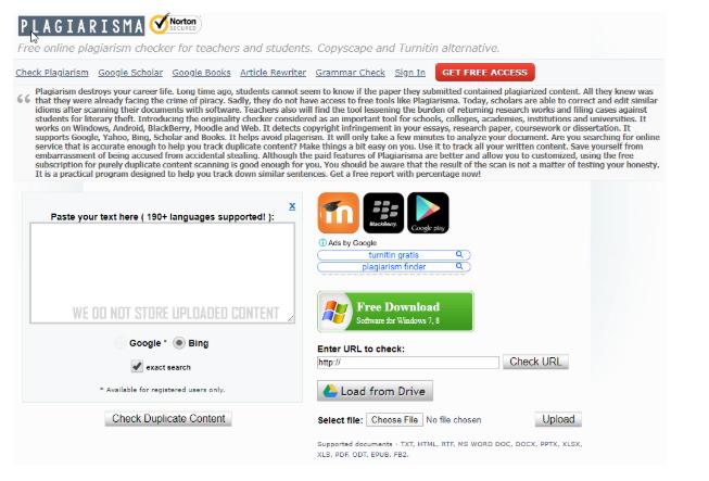 Kiểm tra nội dung trùng lặp bằng công cụ Plagiarism.net