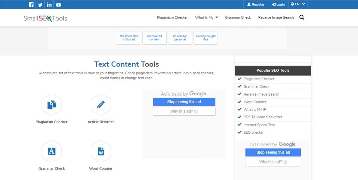 Small SEO tool giúp bạn dễ dàng, nhanh chóng kiểm tra đạo văn