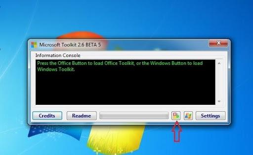 Click vào biểu tượngOffice, Microsoft Toolkit sẽ tự động phát hiện phiên bản Office có trên máy