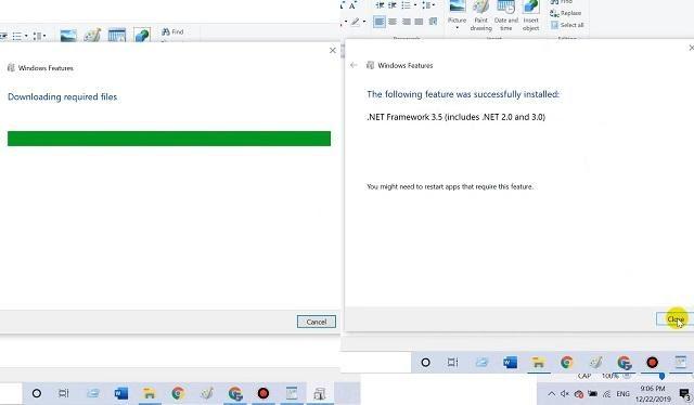 Màn hình sẽ thông báo Install Comple, chỉ cần nhấn vào Close để đóng cửa sổ