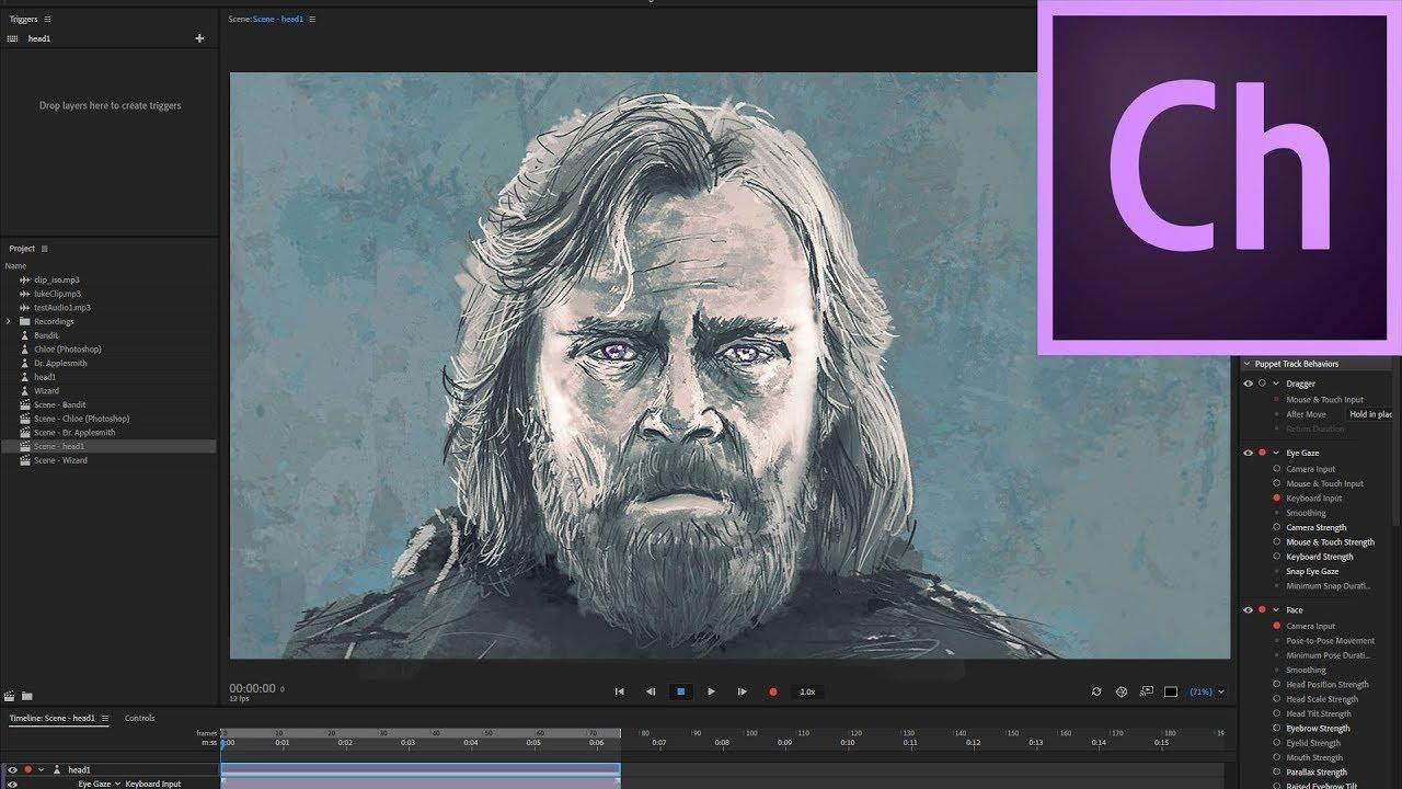 Adobe Character Animator CC 2019 là phần mềm phổ biến hiện nay