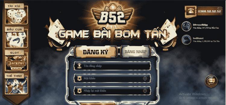 Game bài đổi thưởng số 1 ở Việt Nam - B52 Club