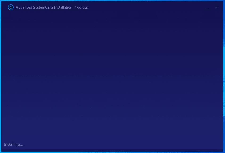 Chờ đợi trong giây lát để phần mềm được cài đặt