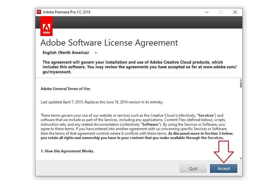 Chọn Accept để hoàn tất việc cài đặt phần mềm
