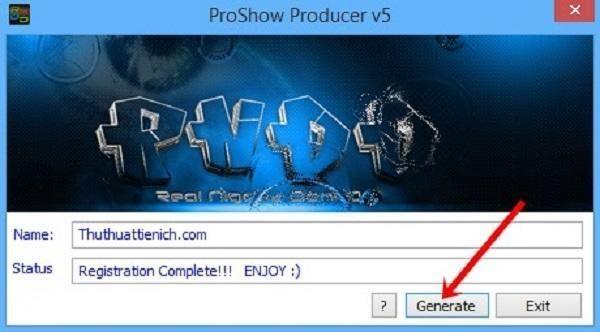 Click chọn nút Generate