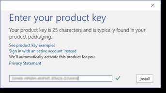 Copy key rồi nhấn Install để cài đặt phần mềm