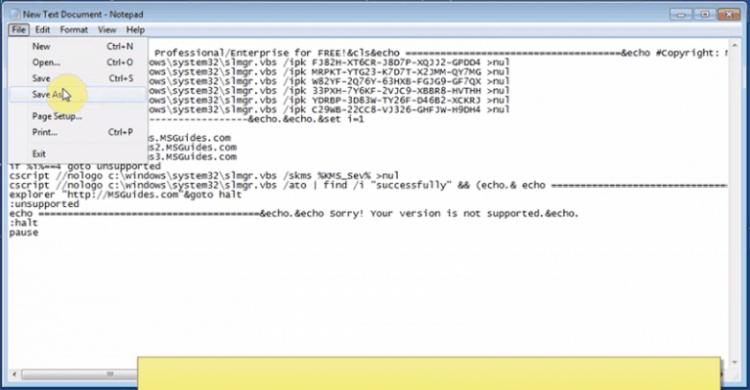 Dán mã code vừa copy vào file Text