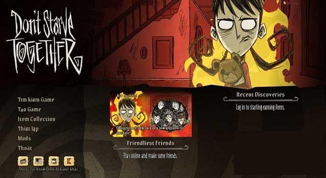 Hãy vào game Don't Starve Together và thưởng thức trò chơi thú vị này bạn nhé