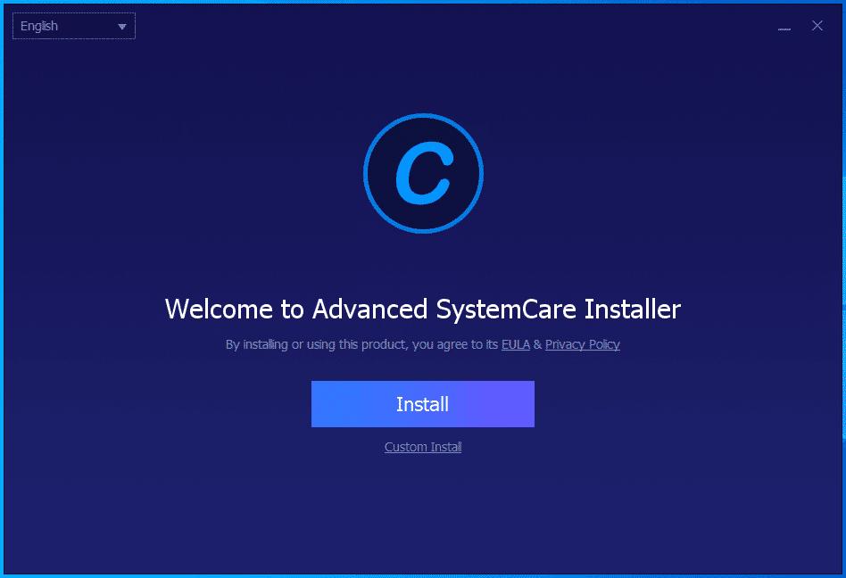 Lựa chọn Install để cài đặt Advanced Systemcare Pro