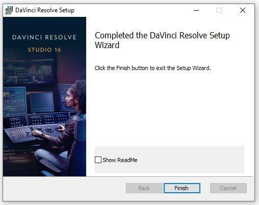 Nhấn Finish để kết thúc chương trình cài đặt