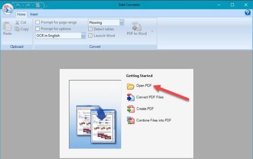 Tại giao diện chính, người dùng chọn Open PDF hoặc Convert PDF File