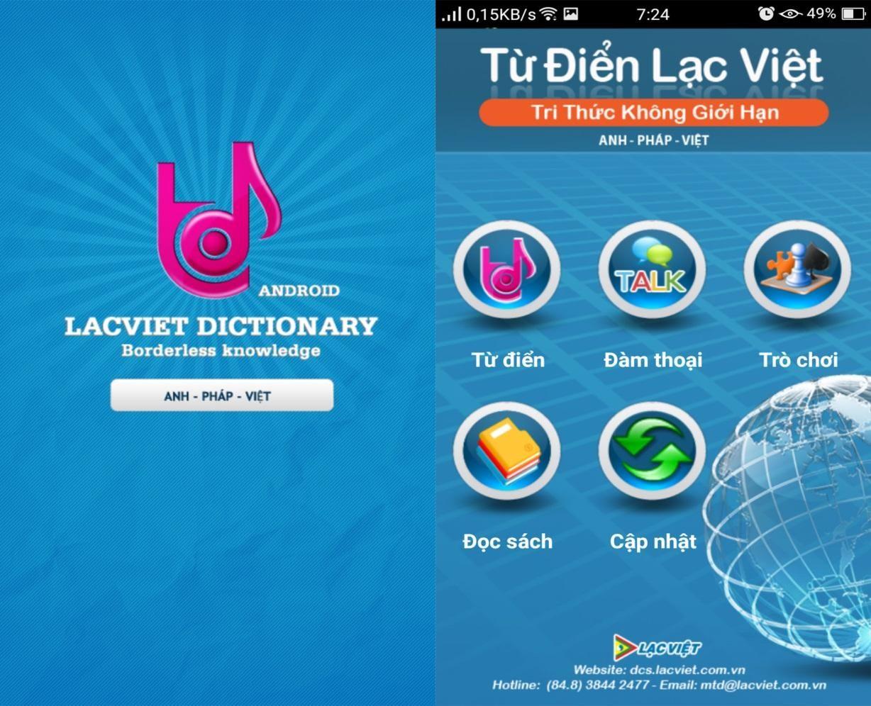 Từ điển Lạc Việt hỗ trợ dịch nhiều ngôn ngữ với kho từ vựng khổng lồ