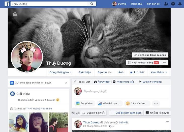 Cach xem so lan nguoi khac vao facebook cua minh