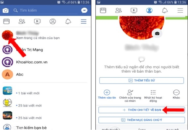 cach lam hien thi so luot theo doi tren facebook bang dien thoai Android