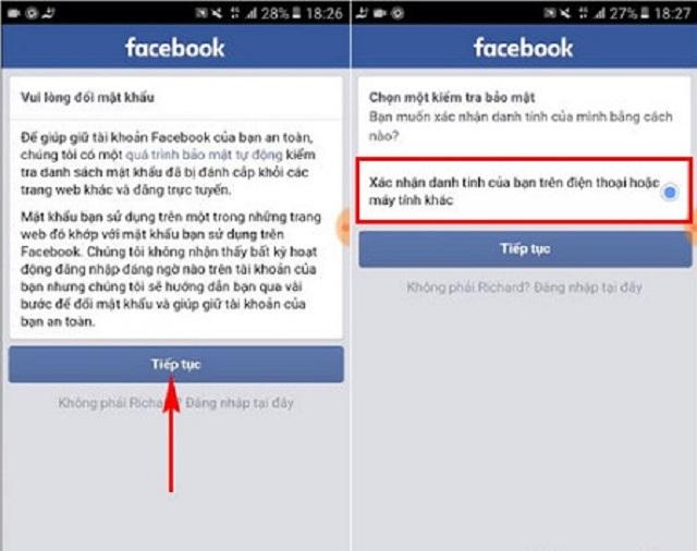 Xac nhan danh tinh facebook