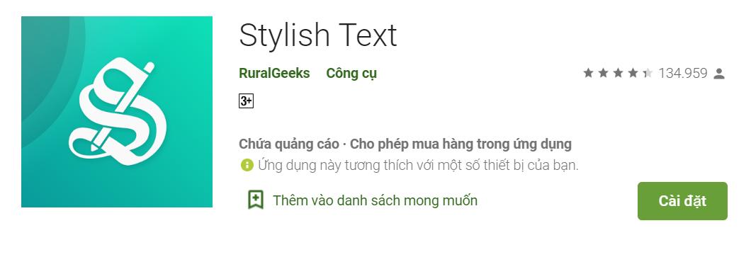 Cong cu Stylish Text
