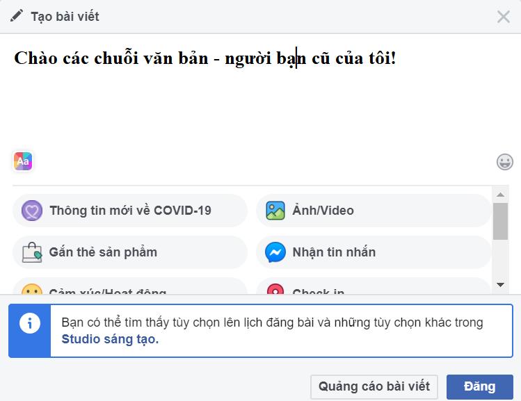 dan kieu chu tren facebook