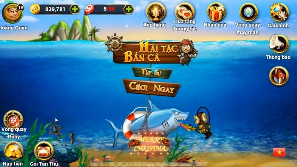 Trải nghiệm game hải tặc bắn cá siêu thú vị