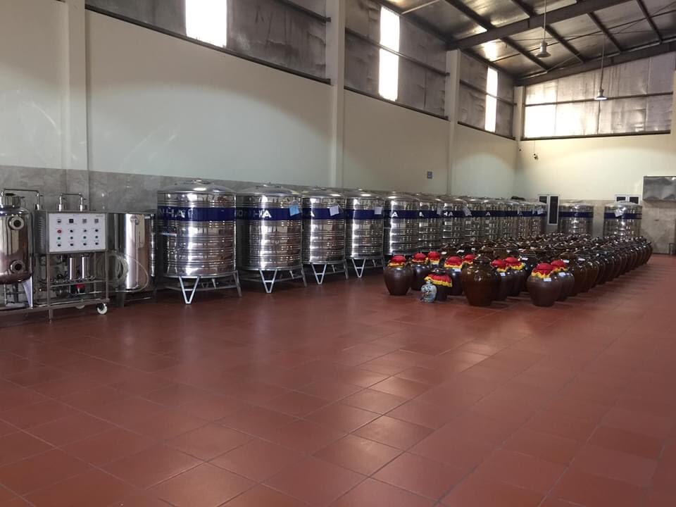 quy trình nấu rượu công nghiệp
