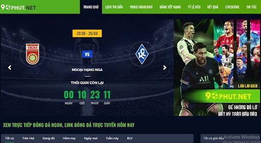 90Phut.TV là trang web bóng đá trực tuyến hàng đầu